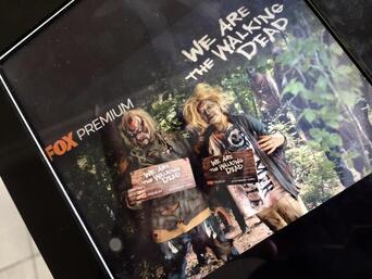 ipad booth movil the walking dead
